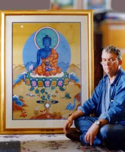 Энди Уэбер с Буддой Медицины