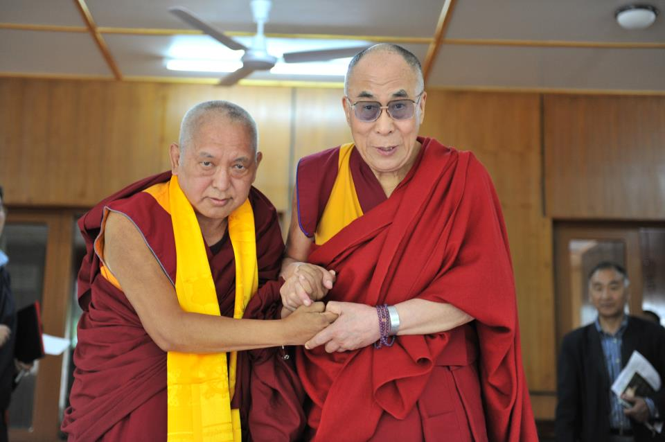 Лама Сопа Ринпоче и Его Святейшество Далай-лама XIV